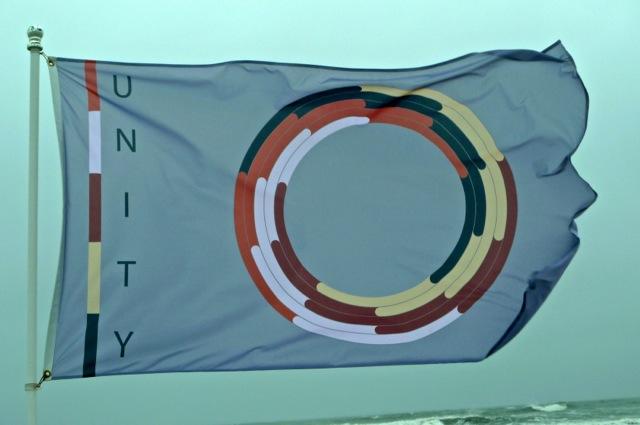 Digitally Printed Racial Unity Flag